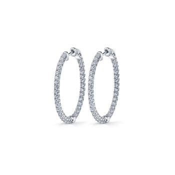 Inside-Out Oval Hoop Earrings