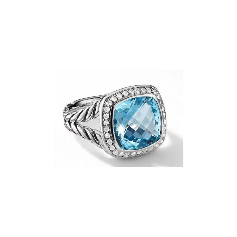 Lasker Gemstone Albion Ring with Blue Topaz