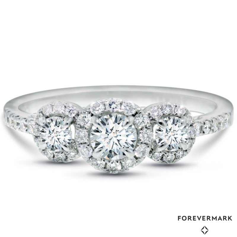 Lasker Bridal Center Of My World 3-Stone Ring - .61ctw
