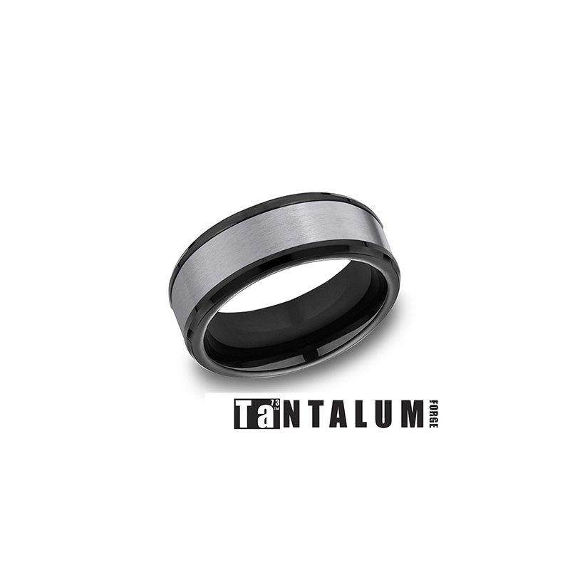 Lasker Men's Tantalum & Black Titanium Band