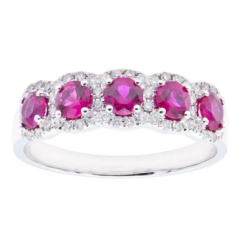 Lasker Gemstone Center of My Universe Ruby Ring