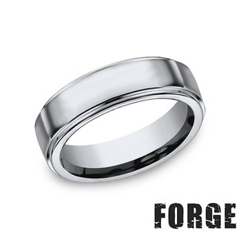 7MM High Polish Step Edge Titanium Band