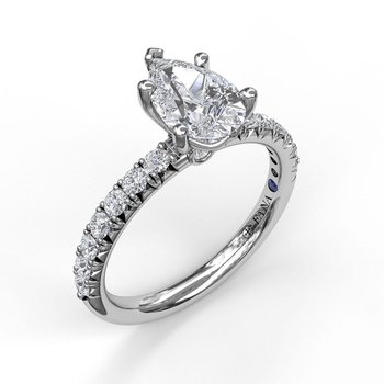 Classic Prong Engagement Ring for Pear Shaped Center