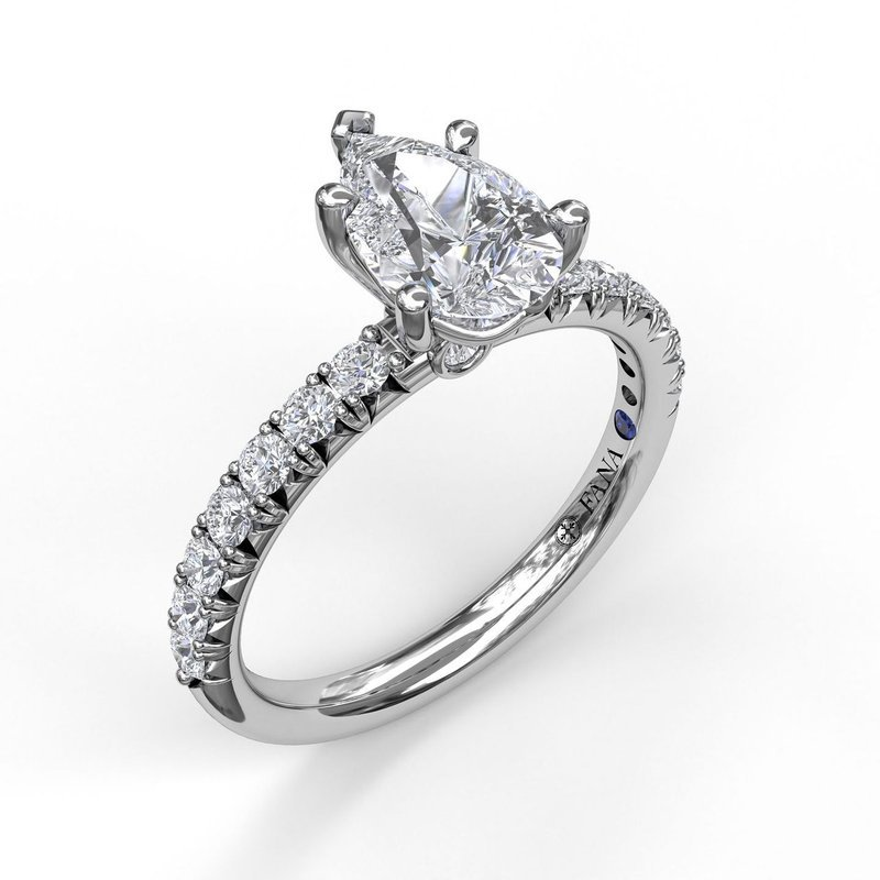 Fana Classic Prong Engagement Ring for Pear Shaped Center