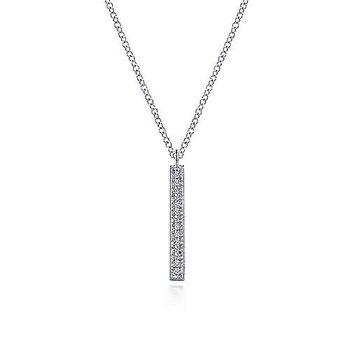 Walk the Line Diamond Pendant