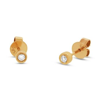One and Only Bezel Set Diamond Stud Earrings