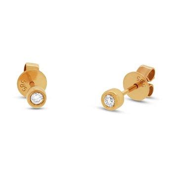 One and Only Bezel Set Diamond Stud Earrings