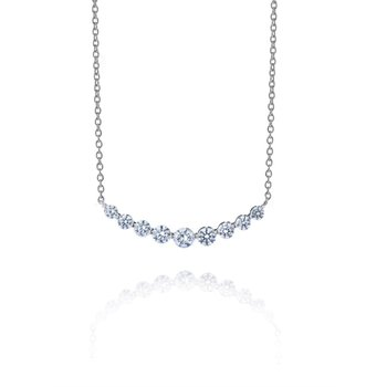 Curved Diamond Row Pendant