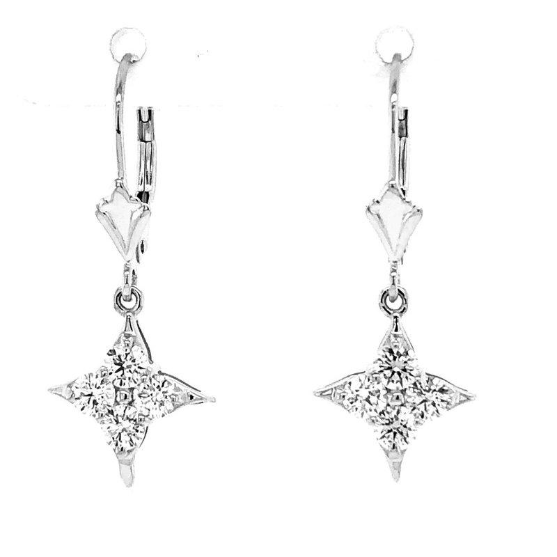 Star Of Hope Leverback Dangle Earrings