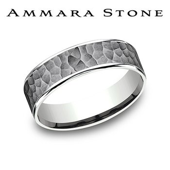 Amara Stone -Tantalum & 14KT White Gold Band