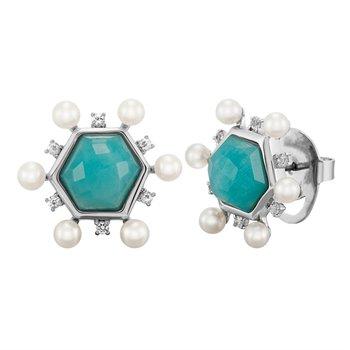 Amazonite Pearl Earrings