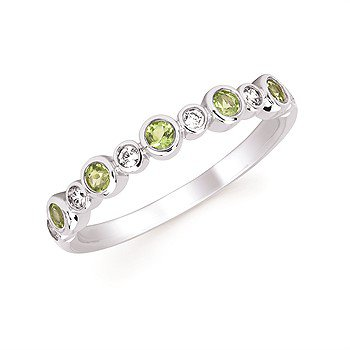 August Stackable Birthstone and Diamond Band