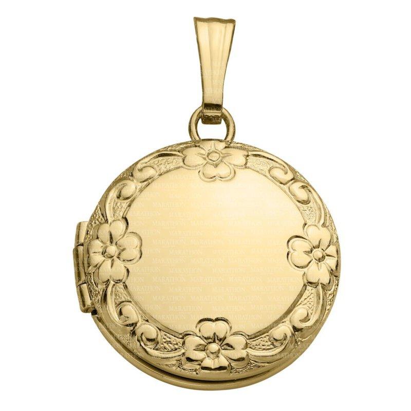 Lasker Signature Gold Filled Floral Locket
