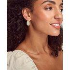 Kendra Scott Beaded Lee Gold Drop Earrings In White Mussel