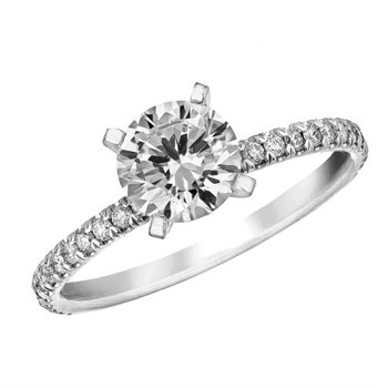 Diamond Pave Engagement Ring Mounting