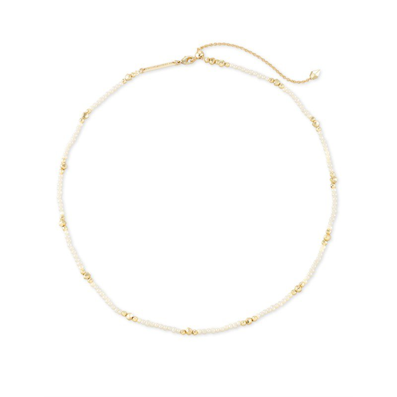Kendra Scott Scarlet Choker Gold with White Pearl