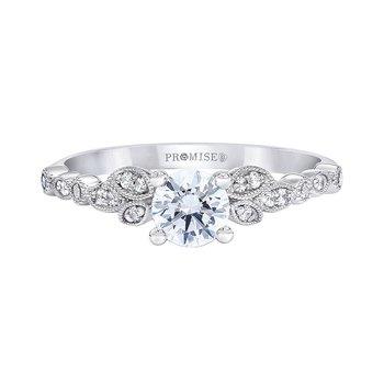 Vintage Leaf Engagement Ring