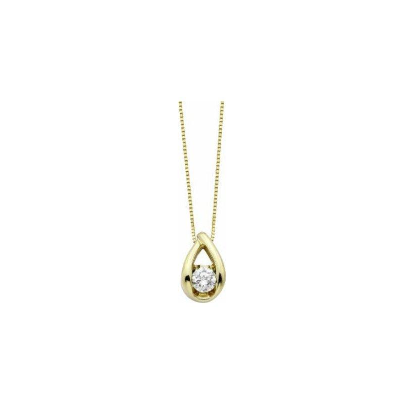 Lasker Diamond Fashion Weave Solitaire Pendant .25cttw