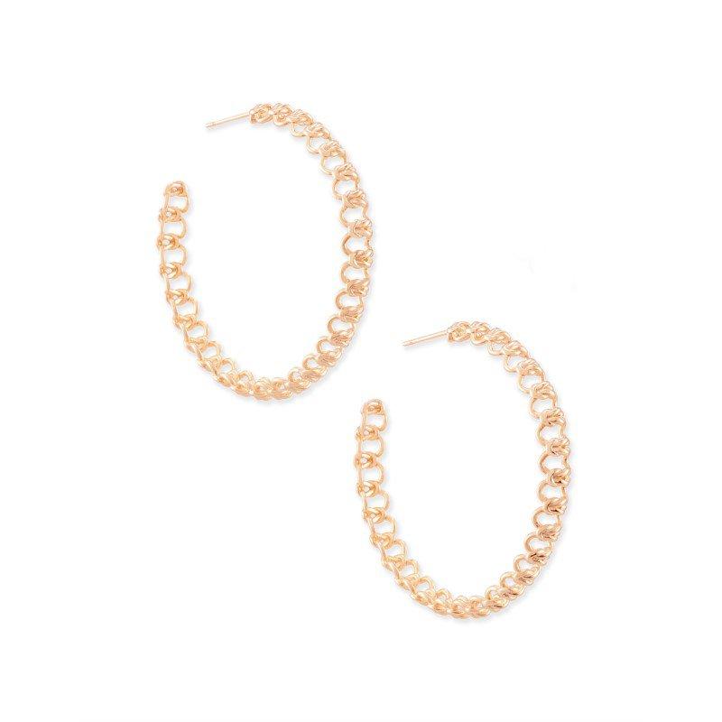 Kendra Scott Fallyn Hoop Earrings In Rose Gold