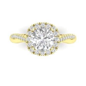 Twisted Halo Ring Setting