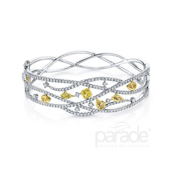 Twist Fancy Diamond Bracelet