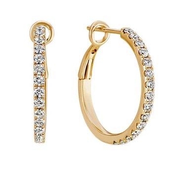 Classic 20MM Prong Set Diamond Hoops