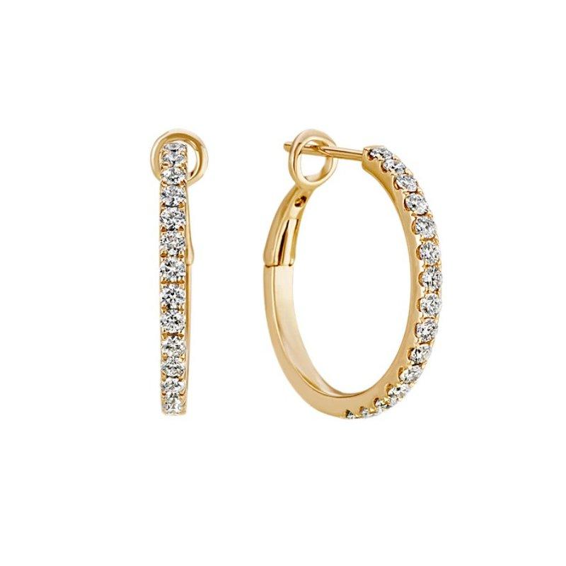 Lasker Diamond Fashion Classic 20MM Prong Set Diamond Hoops