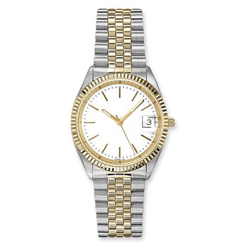 Lasker Steel and Gold Toned Timepiece