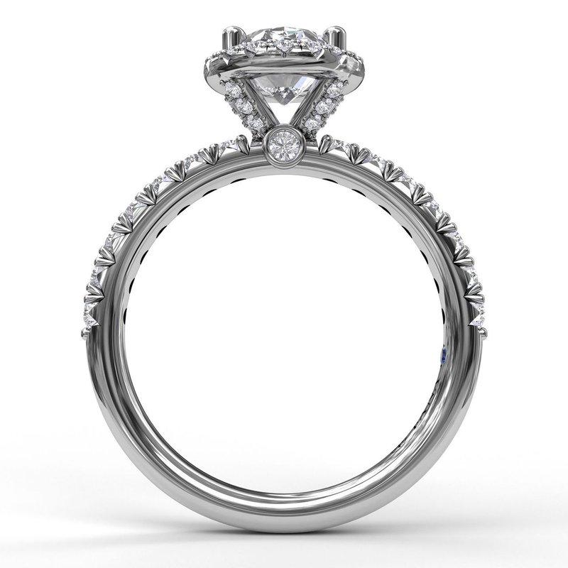 Fana Oval Halo Engagement Ring Mounting