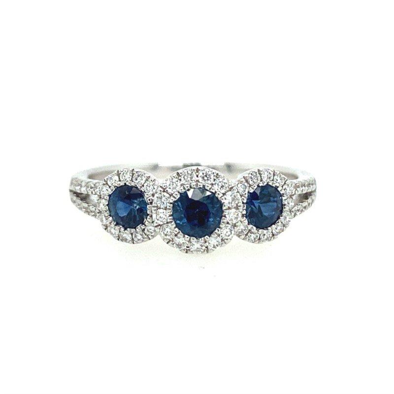 Lasker Gemstone Sapphire Halo Ring