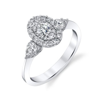 Miracle-Set Oval Halo Ring