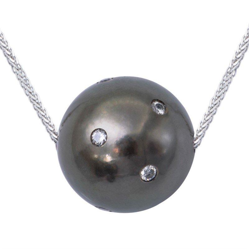 Lasker Pearl Fashion Tahitian Cultured Pearl Slide Necklace