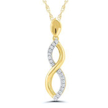 2-Tone Infinity Twist Pendant