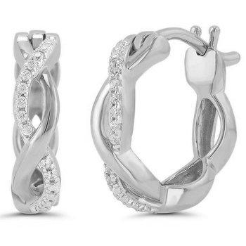 Infinity Twist Hoop Earrings