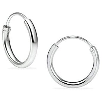 Rounded Polished Huggie Earrings