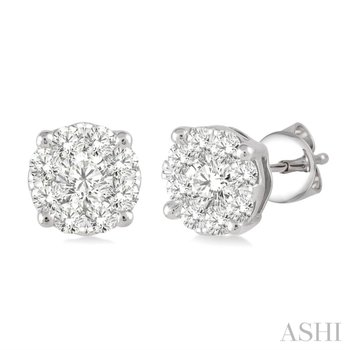 Lovebright Diamond Stud Earrings - 1cttw