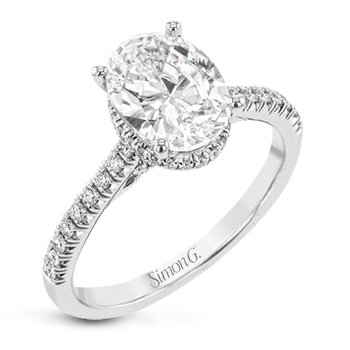 Underhalo Engagement Ring Mounting