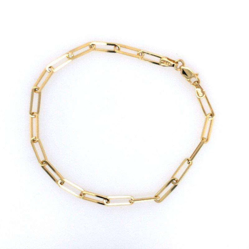 Lasker Gold Fashion Paperclip Chain Bracelet