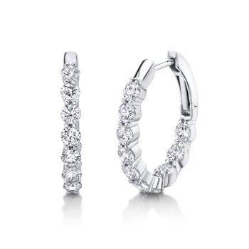 Oval Hoop Earrings - 2.04cttw