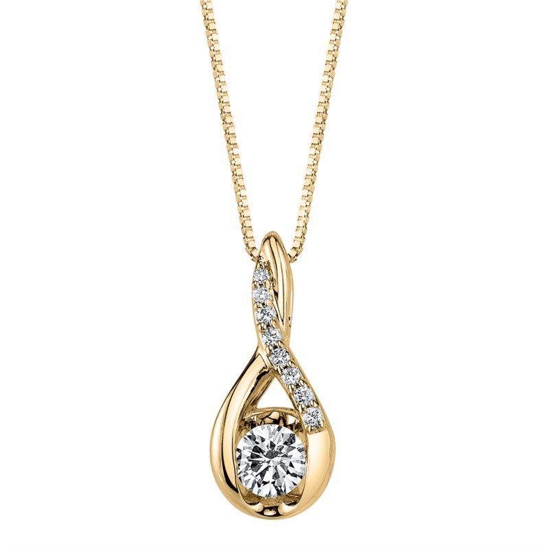 Lasker Diamond Fashion Journey-Style Weave Pendant - 1/3cttw