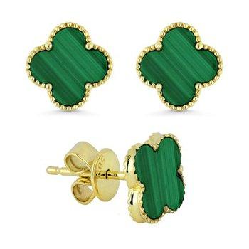 Granada Floral Malachite Earrings