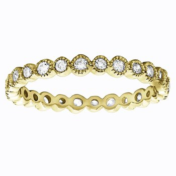 Ariana 2/3 Eternity Diamond Band - Yellow Gold