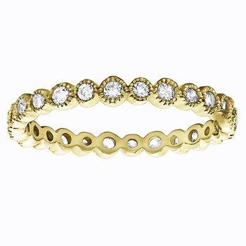 Ariana 2/3 Eternity Diamond Band - Yellow Gold