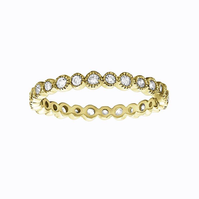 Lasker Bridal Ariana 2/3 Eternity Diamond Band - Yellow Gold