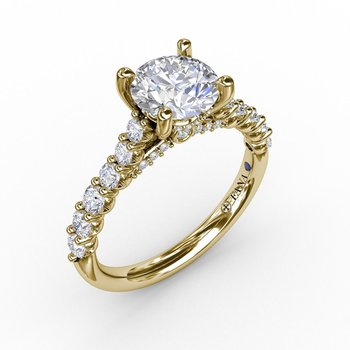 Classic Prong Diamond Engagement Ring Mounting