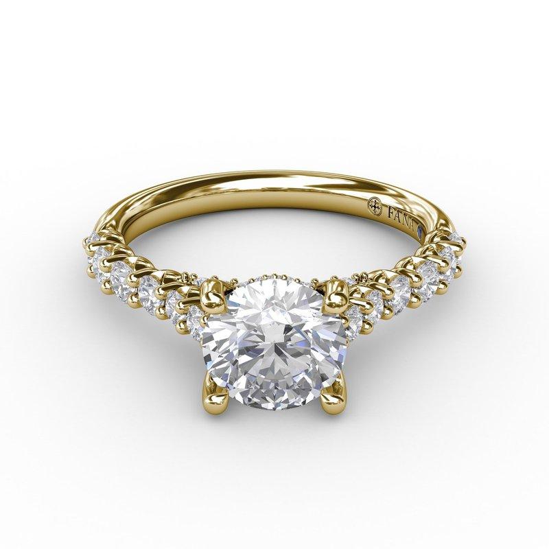 Fana Classic Prong Diamond Engagement Ring Mounting