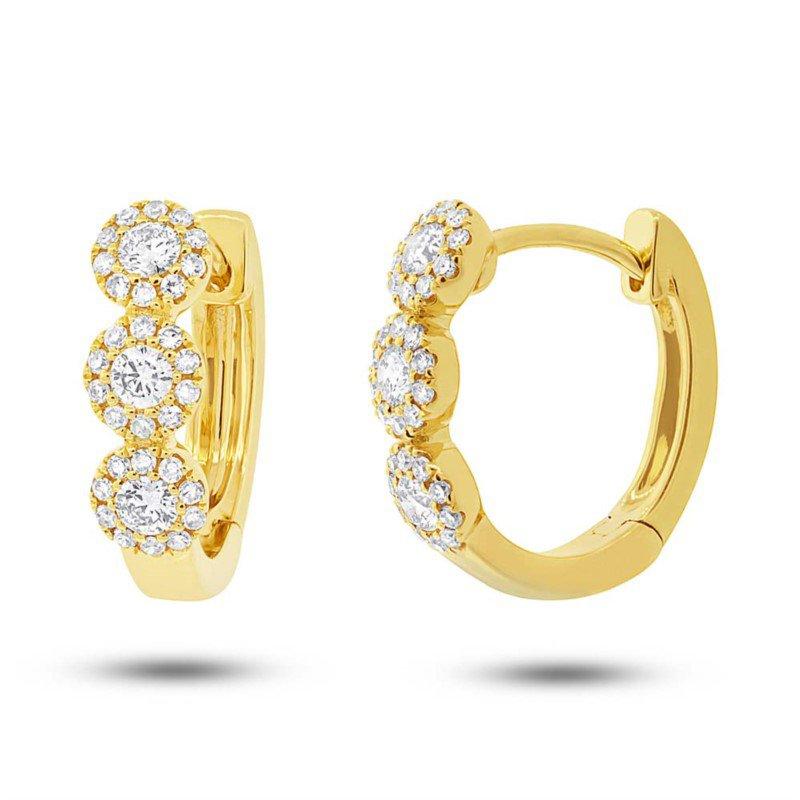 Lasker Diamond Fashion Center Of My World Huggie Hoop Earrings