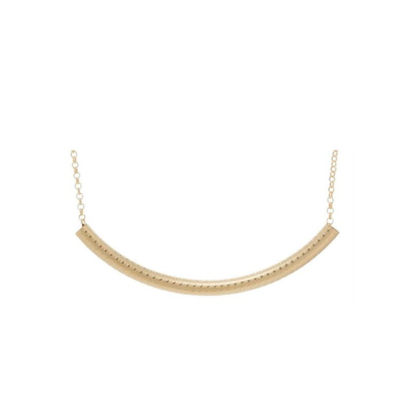 enewton Classic Gold Filled Bliss Bar Textured Necklace 16""