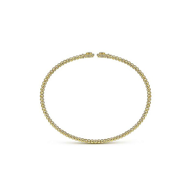 Gabriel Fashion Flower Power Split Cuff Bracelet