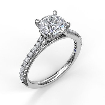 Classic Prong Engagement Ring Mounting